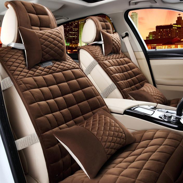 汽车坐垫冬季新款全包短毛绒速腾科鲁兹迈腾福克斯羽绒棉汽车毛垫