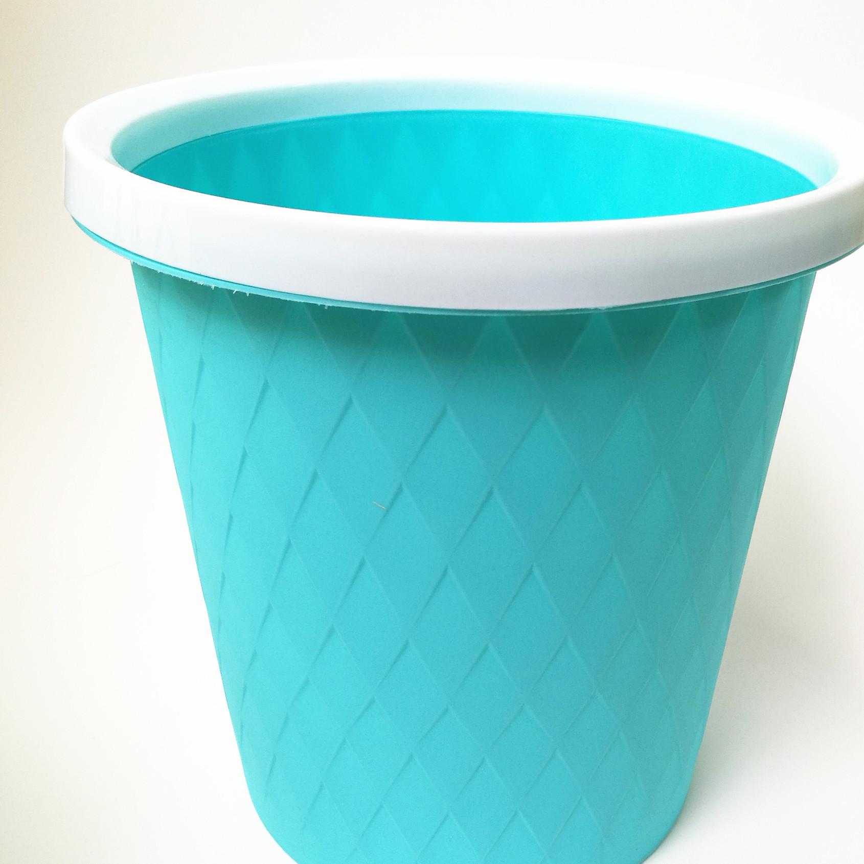 时尚家用垃圾桶厨房卫生间塑料收纳桶 五元六元店地摊百货货源