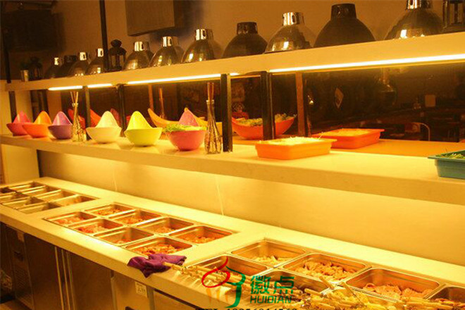 Yuncheng pickles display cabinets customized, supermarket pickles fresh cabinet, cold dishes show