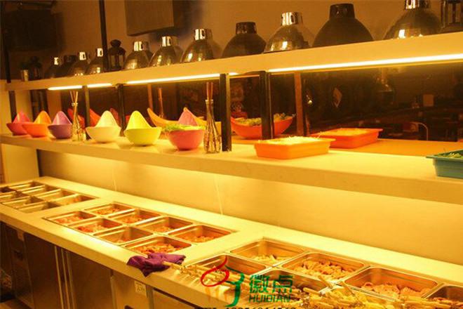 运城酱菜展示柜定做,超市咸菜保鲜柜,凉菜小菜展示台