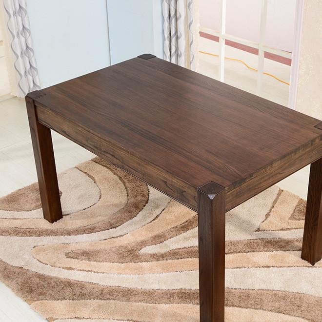 实木美式乡村餐桌纯实木椿木餐桌经久耐用质量保障颜色可定制