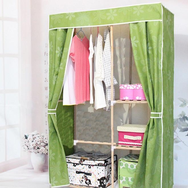 中款布衣柜DYJ-110-1型 实木布衣柜简易组合布衣柜厂家批发直购