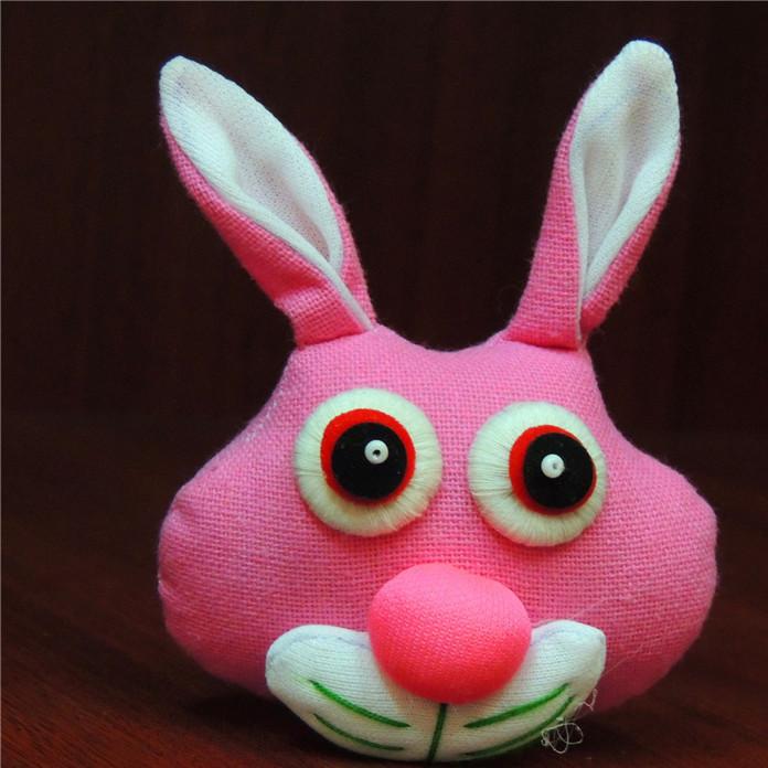 泰国布艺品布艺挂件小兔子配件包挂车挂毛球挂件配件卡通布艺兔子