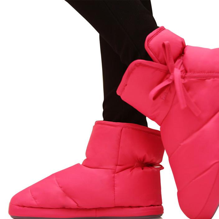 秋冬季家居保暖包跟羽绒鞋 情侣室内地板防滑棉拖鞋 防水耐磨特价