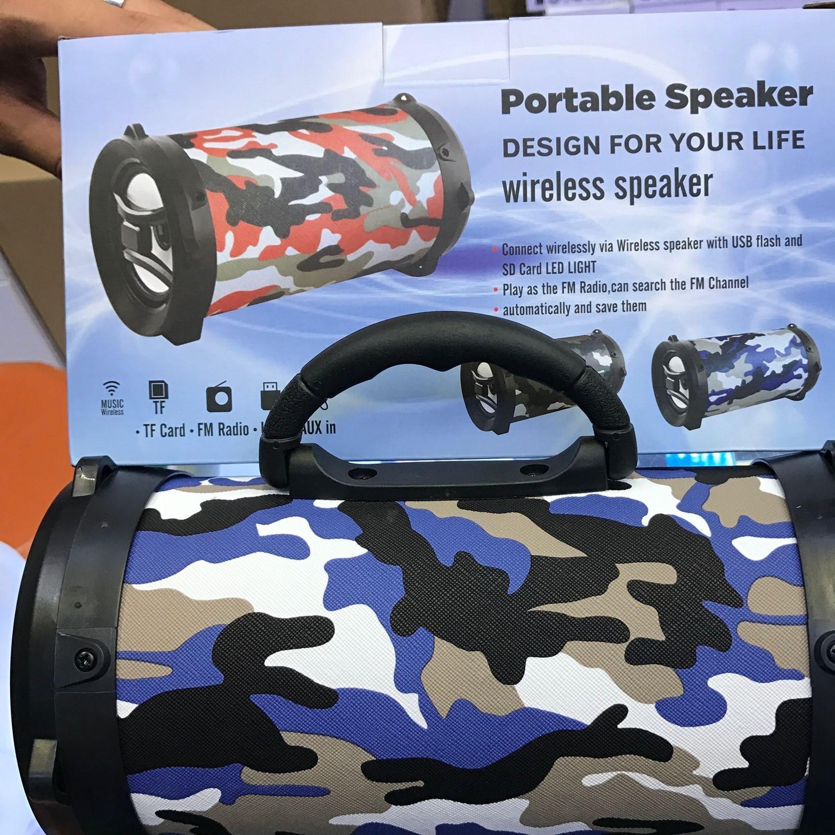 New bluetooth speaker for outdoor portable bag, high power wireless card, large gun barrel, bluetooth speaker