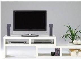 白色简约现代客厅伸缩电视柜酒店视听柜卧室组合电视柜 一件代发