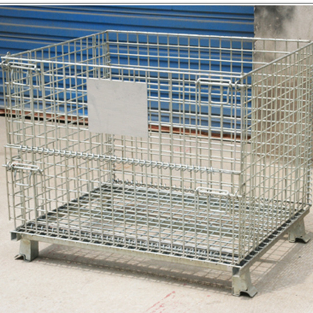 Storage cage folding storage cage transportation cage warehouse cage iron frame storage cage circulation box galvanized iron basket butterfly cage