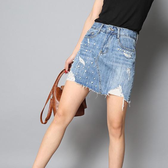 新品上市 加工定制牛仔裙 潮流牛仔裙   街头潮人韩版 牛仔裙 批
