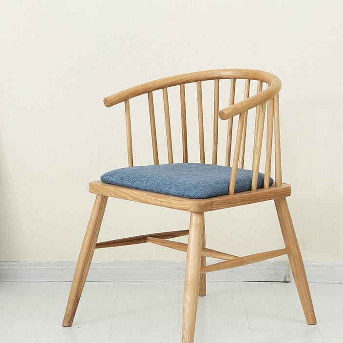 厂家直销北欧纯实木橡木餐椅简约现代餐厅家具酒店咖啡厅休闲椅子