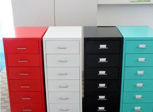 活动柜办公柜子 带锁六抽屉移动办公柜储物矮柜文件资料柜