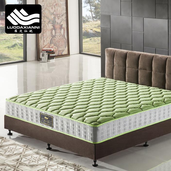 工厂直销特价 绿色4D面料双人席梦思床垫独立弹簧床垫L-919