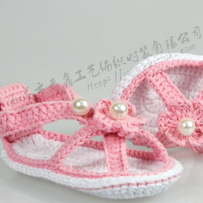 厂家直销直销编织鞋 手工婴儿鞋  镂空婴儿鞋 云鑫编织鞋