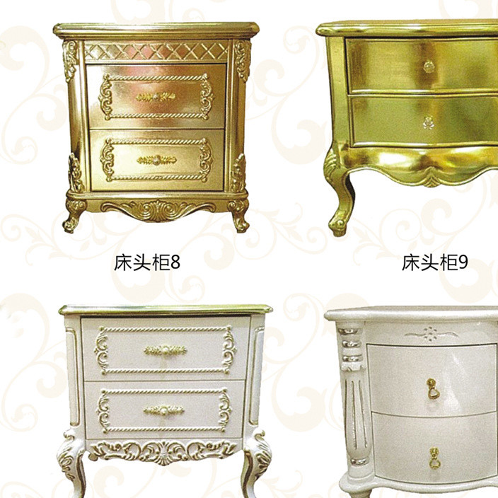 European style bedside cabinet carved wood bedside cabinet depicting gold foil silver foil storage cabinet decoration bedside cabinet manufacturers direct