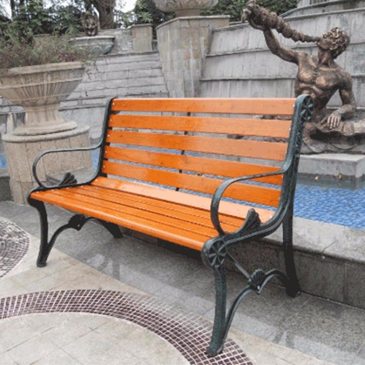 开封实木休闲椅 定制休闲椅 实力厂家 园林椅 花园实木椅 实木休闲椅