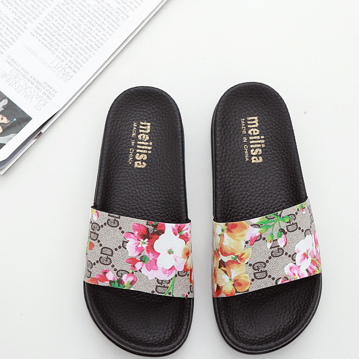 2018夏韩版时尚百搭平底一字拖防滑亮片平跟一字型厚底凉拖鞋女潮