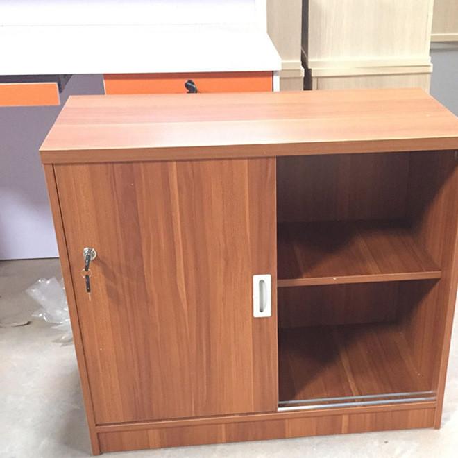 办公家具文件柜矮柜带锁办公柜木质推拉门落地资料柜带轮储物柜