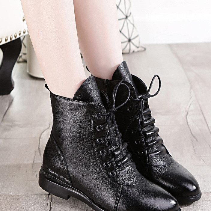 New winter women's shoes hot style with velvet side zipper women's ankle boots Martin boots European and American manufacturers wholesale thermal women's boots