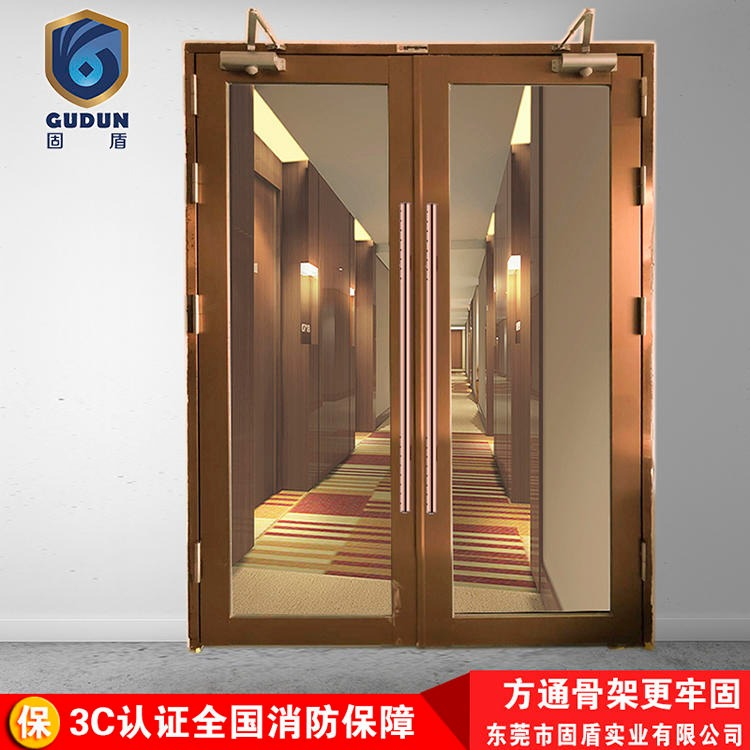 Solid shield 304 black titanium rose gold glass fire doors, class a glass stainless steel fire doors 304 class b stainless steel fire doors manufacturers direct sales