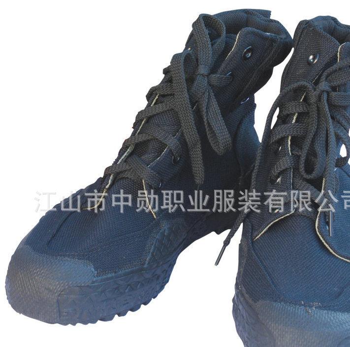 厂家直销 夏季户外丛林高帮平跟鞋 防滑耐磨帆布登山作训靴