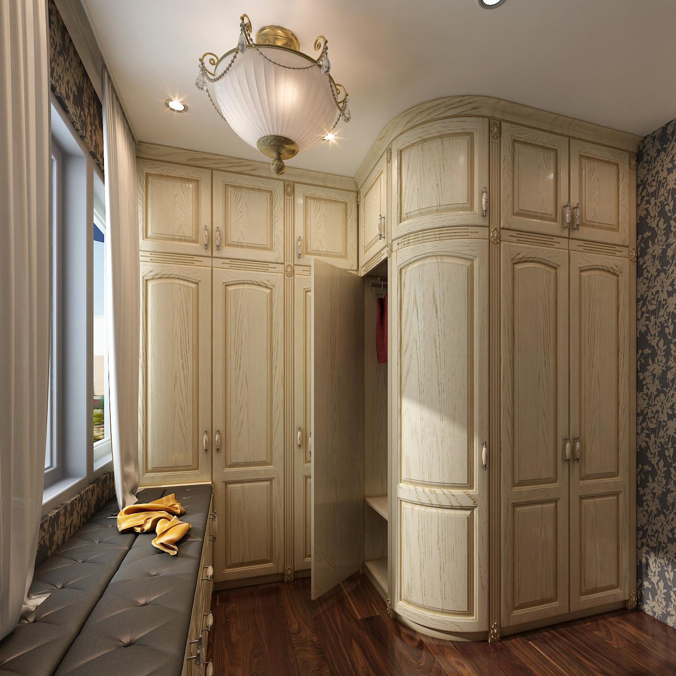 家具定制 平安树实木多层板 现代简约,简欧,欧式移门大衣柜