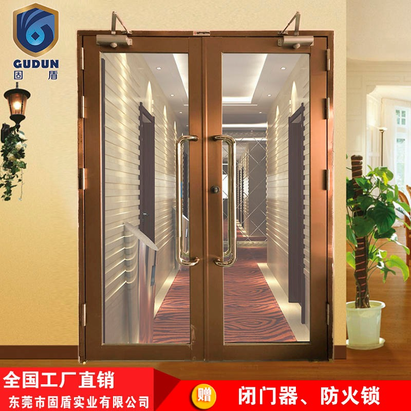 Grade a solid shield rose gold glass fire door to provide quality inspection report
