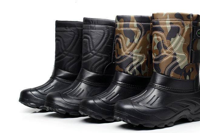 厂家直供外贸男雪地靴 防水靴 钓鱼靴
