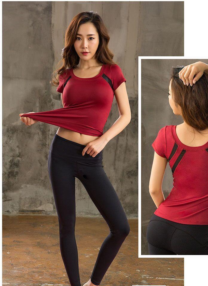 sweet sweat2019新款瑜伽服女套装秋季跑步健身服女套装短袖透气