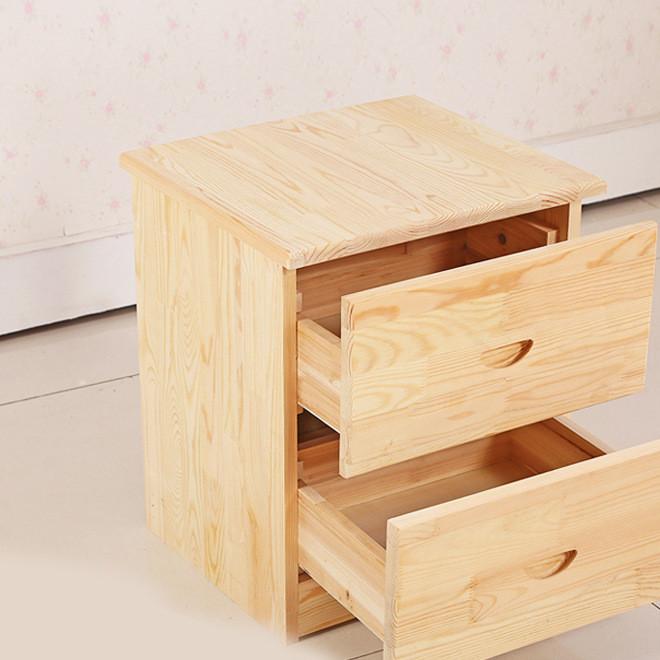 厂家直销卧室家具简易床头柜实木收纳柜 松木梳妆台 可定制批发