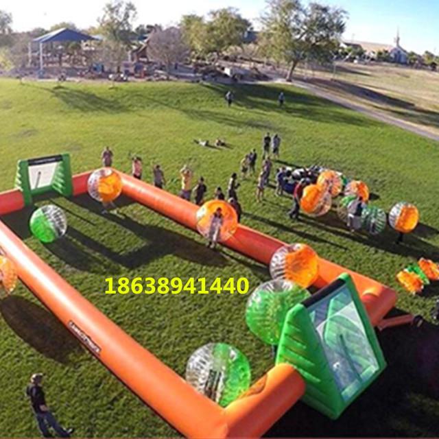 充气足球场运动装备  厂家直销大型户外陆地游乐设备  趣味运动会道具