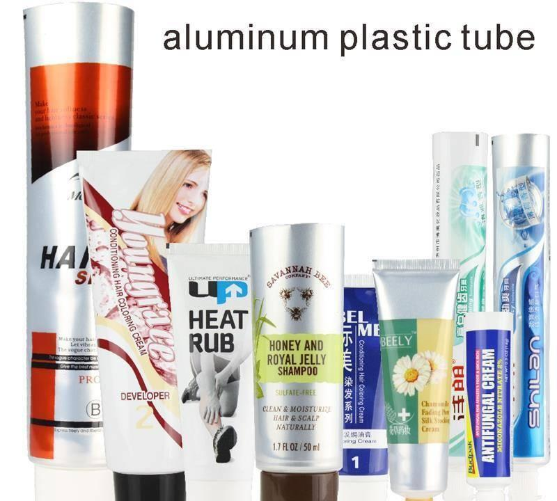 Production of cosmetic plastic PE hose packaging paste tube, hand cream, hair removal cream, toothpaste