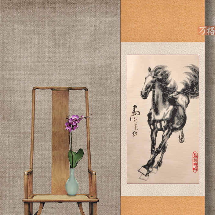 Wholesale paper-cut painting xu feihong big banmantu decorative painting hanging scroll paper-cut painting window decoration folk handmade gifts