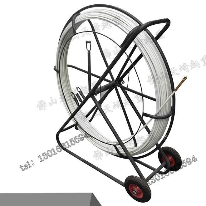 国标电工穿管器电线网线光纤线槽管道拉线器[6哩]50米手推穿线器