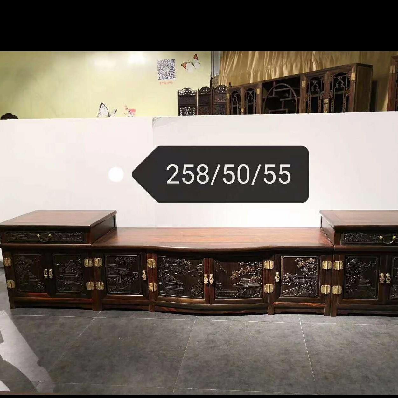 大红酸枝 老料电视柜 古典家具 红木家具