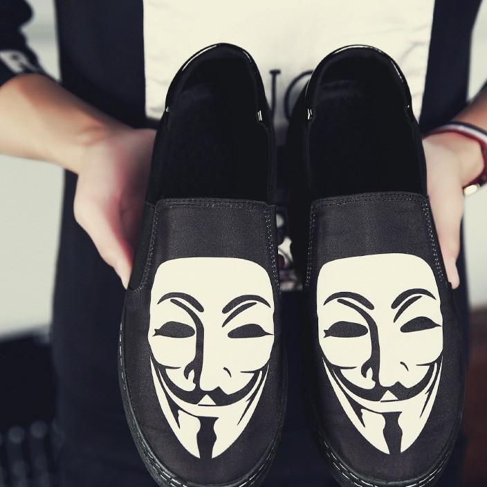 秋季乐福鞋休闲鞋2019夏季男帆布鞋板鞋透气潮鞋懒人韩版豆豆鞋子