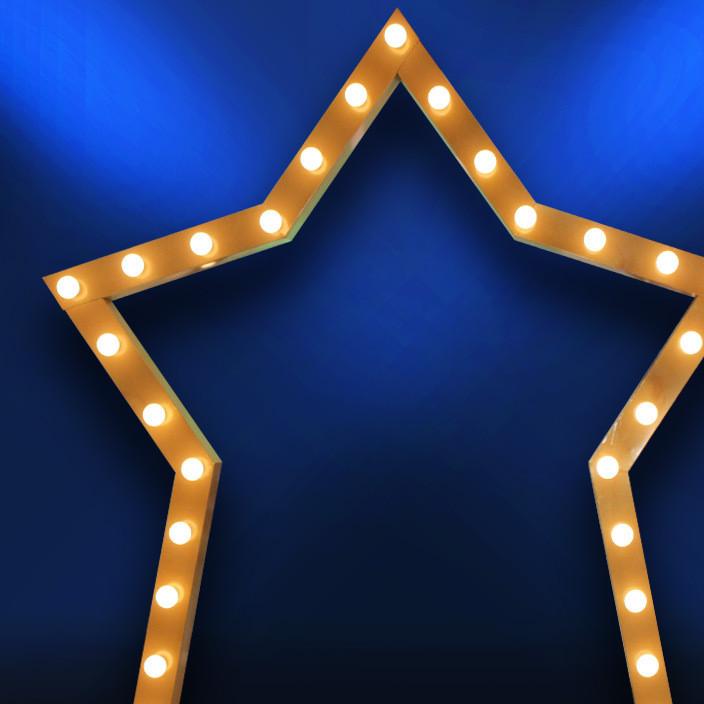 新款婚庆道具金色拱门龙珠拱门星星拱门五角星拱门木质星光门