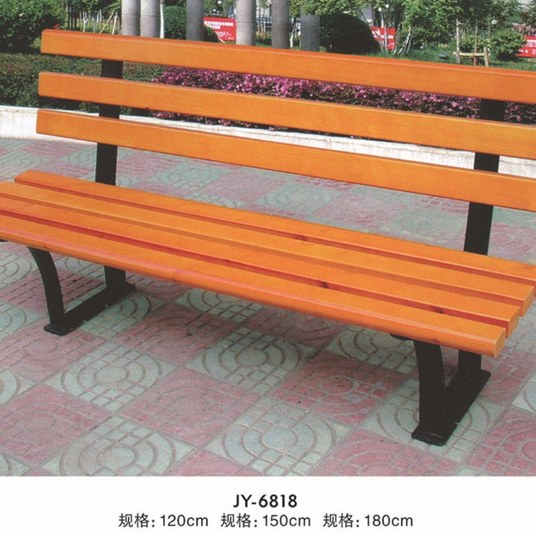 Leisure chair solid wood leisure chair can be customized community bench combination bench Qingdao solid wood leisure chair