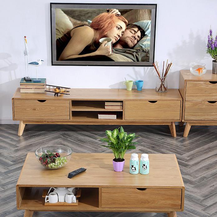 美佳乐 北欧电视柜实木电视柜客厅电视柜 实木茶几实木家具批发
