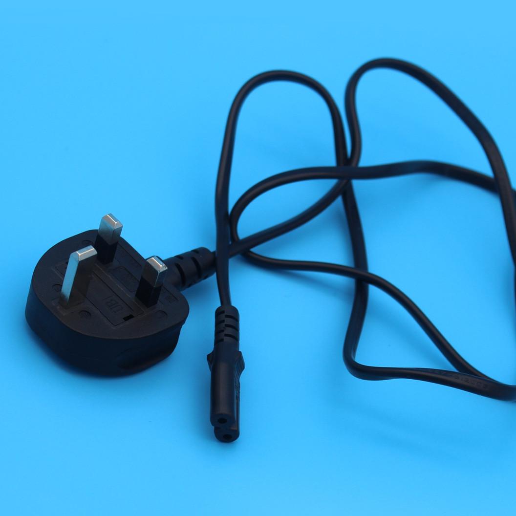 AC电源线 英规三插对八字尾 13A 小家电电源线 英规英标插头线