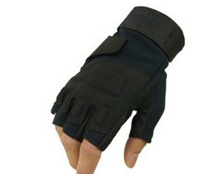 厂家直销黑鹰半指手套 户外战术半指手套运动健身耐磨手套