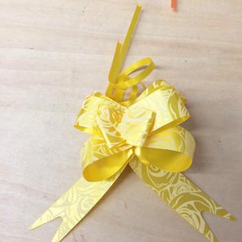 花纹彩带拉花蝴蝶 婚车装饰 礼品包装/扎花/抽花彩带丝带一包10个