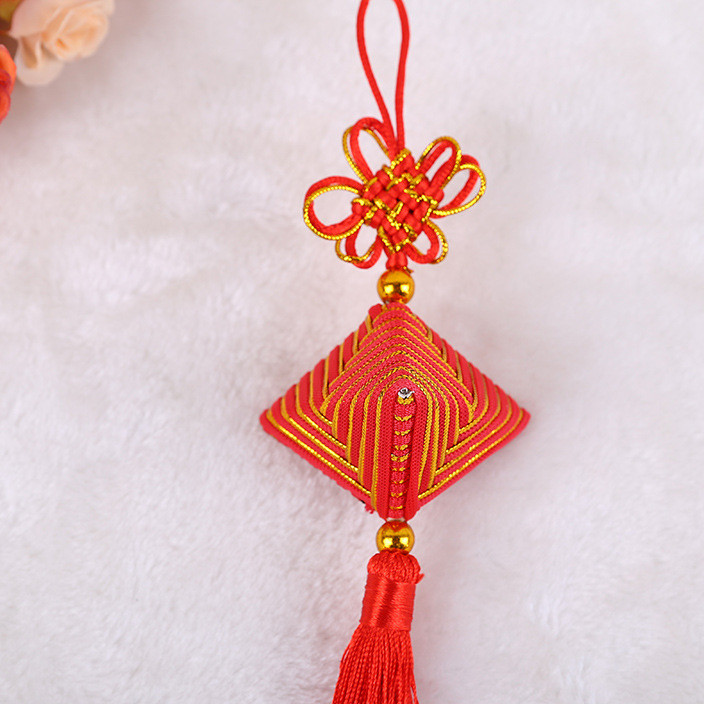 Creative Chinese knot Dragon Boat Festival car pendant pendant wholesale colorful rope sachet sachet characteristics handmade products