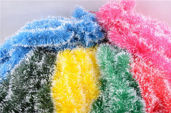 2米长圣诞节毛条拉花彩带 晚会庆典 教室幼儿园布置 店铺装饰彩条