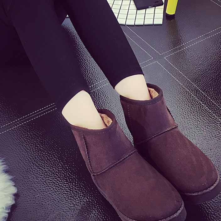 Ugg boots of the same style as UG women's boots foreign trade flat with Korean version of winter and cotton ankle boots women's cotton shoes large size manufacturers