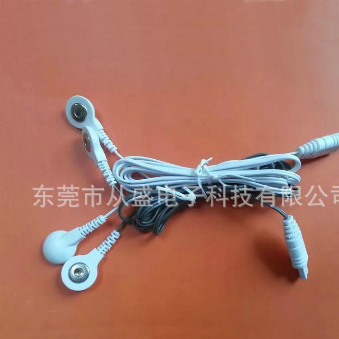 厂家直供无纺布电极片导线 理疗按摩仪扣线 电极扣定制
