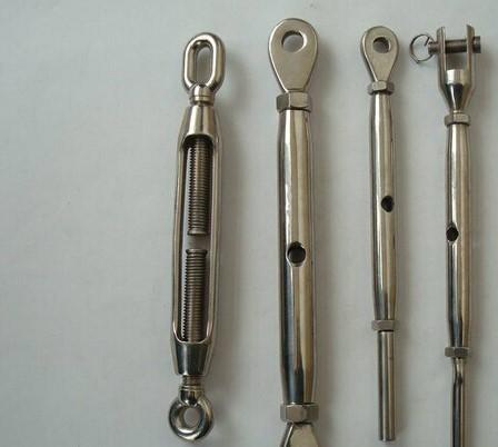 不锈钢索具 钢丝绳拉线器 叉式 眼式 直杆式拉线器 收紧器 接线器