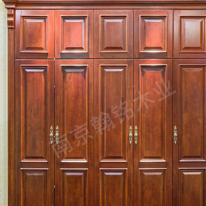 南京工厂美式衣柜美式乡村三四门橡木组装整体卧室木质实木大衣橱