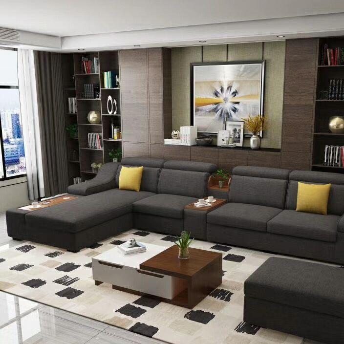 厂家直销北欧布艺沙发 大户型带USP充电器沙发 海棉贵妃布艺沙发