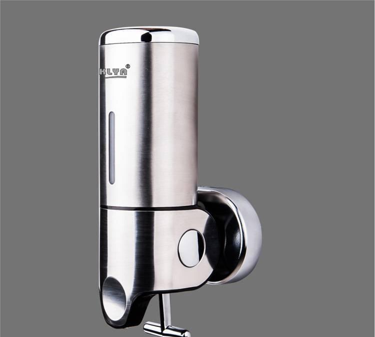 Hotel bathroom wall bar type 304 stainless steel hand soap dispenser hand sanitizer shower gel dispenser