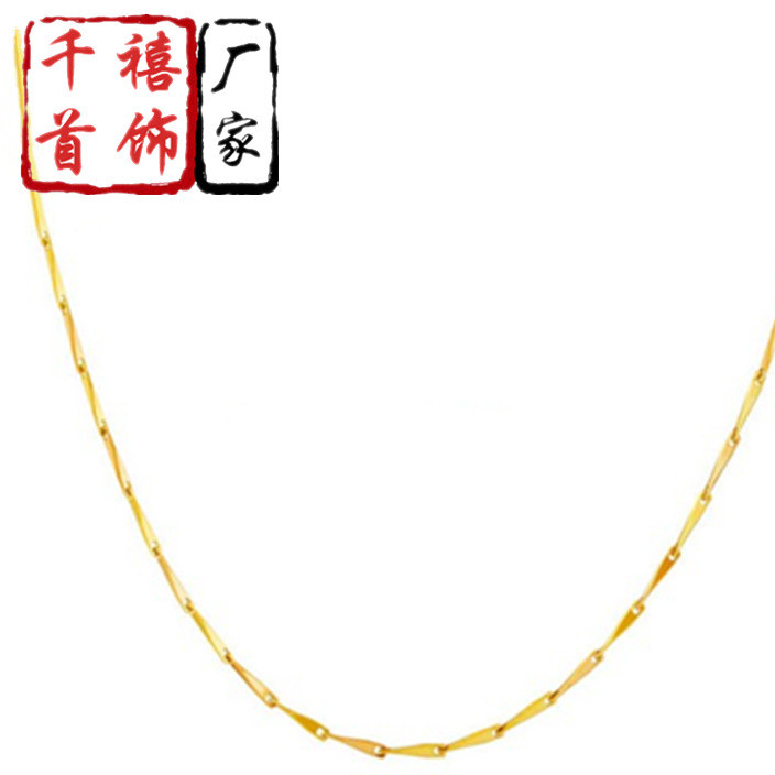 24K gold necklace for women Thailand gold necklace gold plated lady necklace gift jewelry wholesale