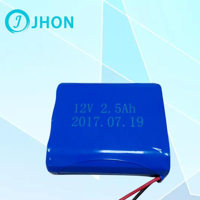 厂家直销聚合物锂电池JH-12V2.5Ah蓝牙音箱锂电池组定做后备电源